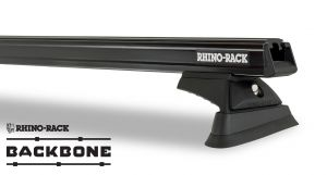 Rhino-Rack Heavy Duty RCL Black 3 Bar Rhino-Rack Backbone Roof Rack For 2018+ Jeep Wrangler Unlimited JL JB0882