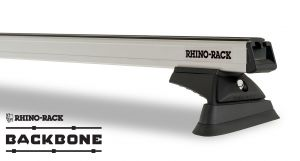 Rhino-Rack Heavy Duty RCL Silver 3 Bar Rhino-Rack Backbone Roof Rack For 2018+ Jeep Wrangler Unlimited JL JB0881