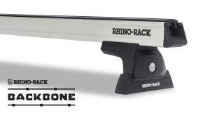 Rhino-Rack Heavy Duty RLT600 Silver 2 Bar Rhino-Rack Backbone Roof Rack For 2011-18 Jeep Wrangler Unlimited JK JA6387