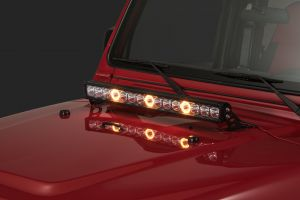 "Quadratec J3 LED 28"" Light Bar with Hood Mount Brackets and Wiring for 97-06 Jeep Wrangler TJ & Unlimited 97109.2513"