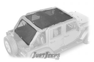 Dirtydog 4X4 Safari Style & Cargo Area Sun Screen For 2007-18 Jeep Wrangler JK Unlimited 4 Door Models J4SS07SC-