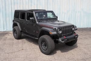 JCR Offroad Classic 2 Rock Sliders-Black for 18+ Jeep Wrangler Unlimited JL, JLU JLSL-CL2-4D-PC