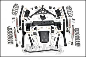 """Rough Country 4"""" Long Arm Suspension Kit With Performance 2.2 Series Shocks For 1999-04 Jeep Grand Cherokee WJ 90820"""