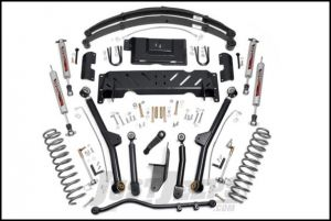 """Rough Country 4½"""" Long Arm Suspension Kit With Full Leaf Springs & Performance 2.2 Series Shocks For 1984-01 Jeep Cherokee XJ With 2.8L V6 & NP242 Transfer Case 60122"""