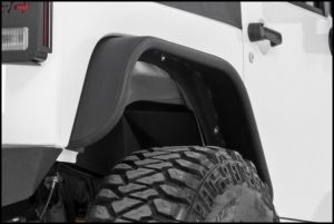 Rough Country Tubular Rear Fender Flares For 2007-18 Jeep Wrangler JK 2 Door & Unlimited 4 Door Models 10532