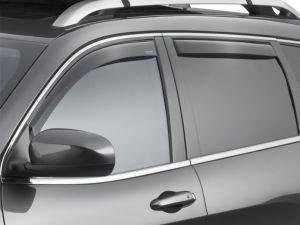 WeatherTech Front & Rear Side Window Air Deflectors (4 Piece Set) In Light Finish For 2014+ Jeep Cherokee KL Models 72741