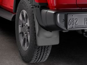 WeatherTech Mudflaps Rear Set For 2018+ Jeep Wrangler JL Sahara Models 120097