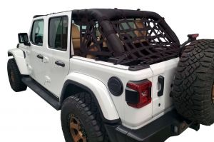 Dirtydog 4X4 Rear Cargo Area Spider Netting For 2018+ Jeep Wrangler JL Unlimited 4 Door Models JL4N18RS-