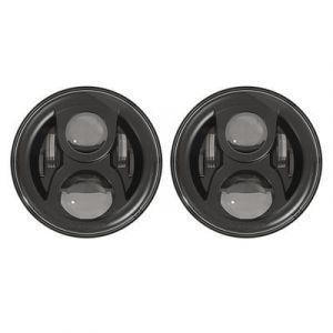 JW Speaker 8700 Evolution Classic J Series LED Headlights For 2007-18 Jeep Wrangler JK 2 Door & Unlimited 4 Door Models (Pair) 0556793