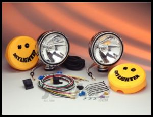 "KC HiLiTES 6"" Daylighter 100 Watt Spot Pair Pack System In Chrome 237"
