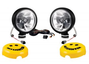 """KC HiLiTES 6"""" Daylighter with Gravity LED G6 Pair Pack System Spot in Black 651"""