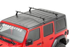 Quadratec Hardtop Drip Rail Mount Cross Bar Rack for 07-18+ Jeep Wrangler JL & JK Ulimited with nFactory Hardtop 92034.1020