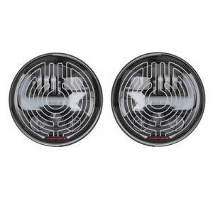 J.W. Speaker (Black / Smart-Heated) EVO J3 LED Headlights For 2007-18 Jeep Wrangler JK 2 Door & Unlimited 4 Door Models 0557213