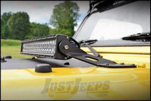 "Rough Country 20"" Dual-Row & Single-Row LED Light Bar Hood Mounts For 1997-06 Jeep Wrangler TJ & TJ Unlimited Models 70210"