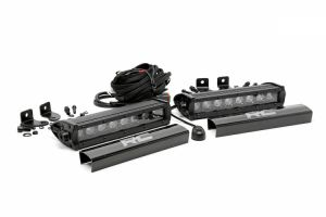 "Rough Country 8"" Cree LED Light Bars (Pair) (Black Series) 70728BL"