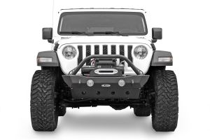 LoD Offroad Destroyer Series Shorty Front Bumper with Bull Bar for 18+ Jeep Wrangler JL & 20+ Gladiator JT JFB1803