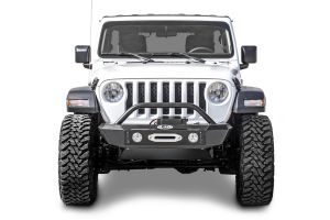 LoD Offroad Signature Series Shorty Front Bumper with Bull Bar and D-Ring Tabs for 18+ Jeep Wrangler JL & 20+ Gladiator JT JFB183-