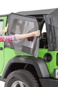 MasterTop Replacement Rear Quarter Window Kit for 07-18 Jeep Wrangler JK with Original Factory Mopar Soft Top 16020835