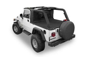 MasterTop Wind Stopper Plus & Tonneau Cover 2 Piece Kit for 04-06 Jeep Wrangler Unlimited LJ 14420024