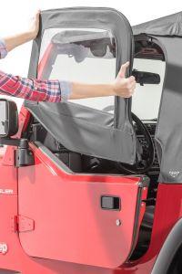 MasterTop Replacement Upper Door Pair for 97-06 Jeep Wrangler TJ 16019-