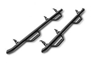 N-Fab Nerf Step Bar Wheel to Wheel In Textured Black For 2018 Jeep Wrangler JL Unlimited 4 Door Models J1866