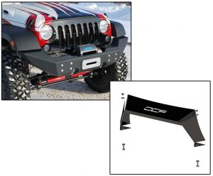 Off Camber Fabrications Front Full Width Winch Bumper with Formed Front Light Bar for 07-18 Jeep Wrangler JK, JKU 12126.0011