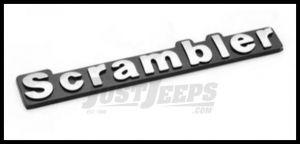 Omix-ADA Jeep Scrambler Emblem Stick On Officially Licensed OE For 1981-86 Jeep CJ8 Scrambler DMC-5763509