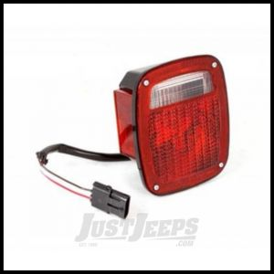Omix-ADA Tail Light With Black Housing Left Hand For 1987-90 Jeep Wrangler 12403.11