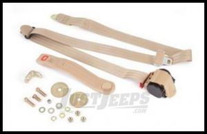Omix-ADA Seat Belt Front 3 Point Shoulder Harness In Tan For Universal Applications 13202.22