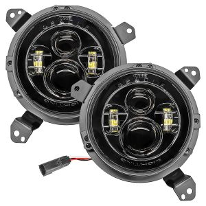 """Oracle Lighting 7"""" High Powered Projector LED Headlight Pair for 18+ Jeep Wrangler JL & 20+ Gladiator JT 5769J-"""
