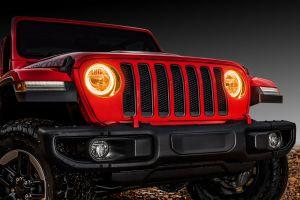 Oracle Lighting Waterproof Surface Mount LED Headlight Halo Kit for 18+ Jeep Wrangler JL, JLU 1214-