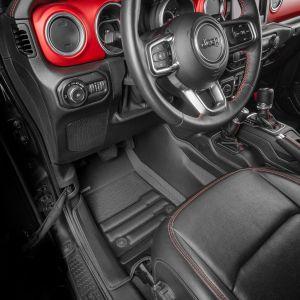 TuxMat Custom Floor Mats For 2018+ Jeep Wrangler JL 4 Door Models - Includes Front & Rear Rows 8455