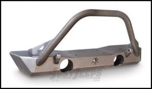 Poison Spyder Brawler Lite Front Bumper With Brawler Bar & 2 Shackle Tabs For 2007-18 Jeep Wrangler JK 2 Door & Unlimited 4 Door Models (Bare Steel) 17-59-010-DB