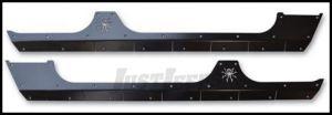 Poison Spyder Body Armor Under Door For 2007-18 Jeep Wrangler JK Unlimited 4 Door Models (Bare Steel) 18-08-410
