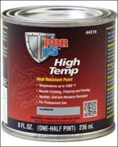POR-15 High Temp Paint 8oz In Manifold Gray 44216