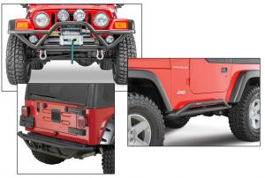 Quadratec QRC Front Bumper, Rocker Guards & Rear Bumper for 87-06 Jeep Wrangler YJ & TJ 12057.0170