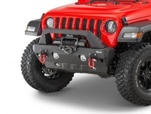 Quadratec Aluminum Brute Strength Winch Bumper Stubby for 18-20+ Jeep Wrangler JL, JLU & Gladiator JT 12057.0261