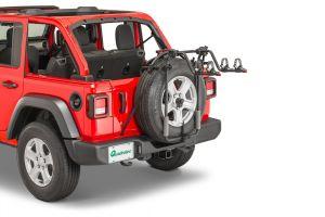 Quadratec Spare Tire Mount 2 Bike Rack for 18+ Jeep Wrangler JL, JLU 92034.1007
