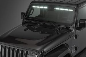 "Quadratec LED Interior Mount 50"" Stealth Light Bar 2-Piece for 18-20+ Jeep Wrangler JL & Gladiator JT with Adaptive Cruise Control 97109.1401"