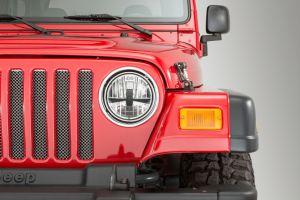 Quadratec Gen II Stealth LED Headlights for 55-06 Jeep Wrangler TJ, Unlimited & CJ