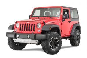 Quadratec Aluminum Modular Front Sway Bar Skid Plate for 10-18 Jeep Wrangler JK 12500.0211