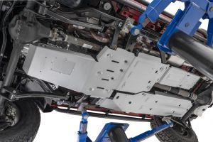 Quadratec Aluminum Modular Engine & Transmission, Transfer Case and Rear Transfer Case Skid Plates for 07-18 Jeep Wrangler Unlimited JK 12500.0291