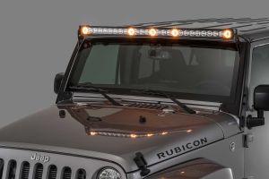Quadratec J5 LED Light Bar Kit with 6 Bolt Style Windshield Mounting Brackets for 07-18 Jeep Wrangler JK 97109.1025