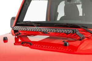"Quadratec Stealth 27"" LED Light Bar with Hood Mount Brackets and Wiring for 07-18 Jeep Wrangler JK, JKU 97109.1431"