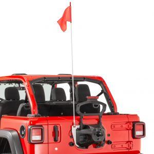 Quadratec Trail Flag with Mount Kit for 18+ Jeep Wrangler JL, JLU 96081.0081