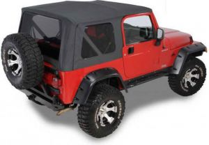 QuadraTop Replacement Soft Top with Tinted Windows for 97-06 Jeep Wrangler TJ 11000TJT-