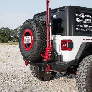 Road Armor Stealth Rear Hi-Lift Jack Mount for 07-18+ Jeep Wrangler JK & JL with Stealth Rear Bumper & Tire Carrier 518RTCHLMB