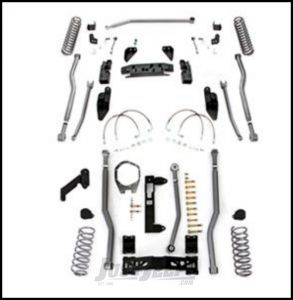 """Rubicon Express 3.5"""" Extreme Duty 4-Link Front With Rear 3-Link Long Arm Lift Kit Without Shocks For 2007-18 Jeep Wrangler JK 4 Door Unlimited Models JK4343"""