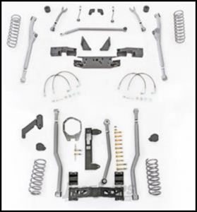 """Rubicon Express 3.5"""" Extreme Duty Radius Front With Rear 3-Link Long Arm Lift Kit Without Shocks For 2007-18 Jeep Wrangler JK 2 Door Models JKR323"""