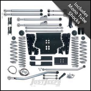 """Rubicon Express 4.5"""" Extreme-Duty Long Arm Kit With Rear Track Bar Kit With Mono Tube Shocks For 1997-02 Jeep Wrangler TJ RE7204M"""